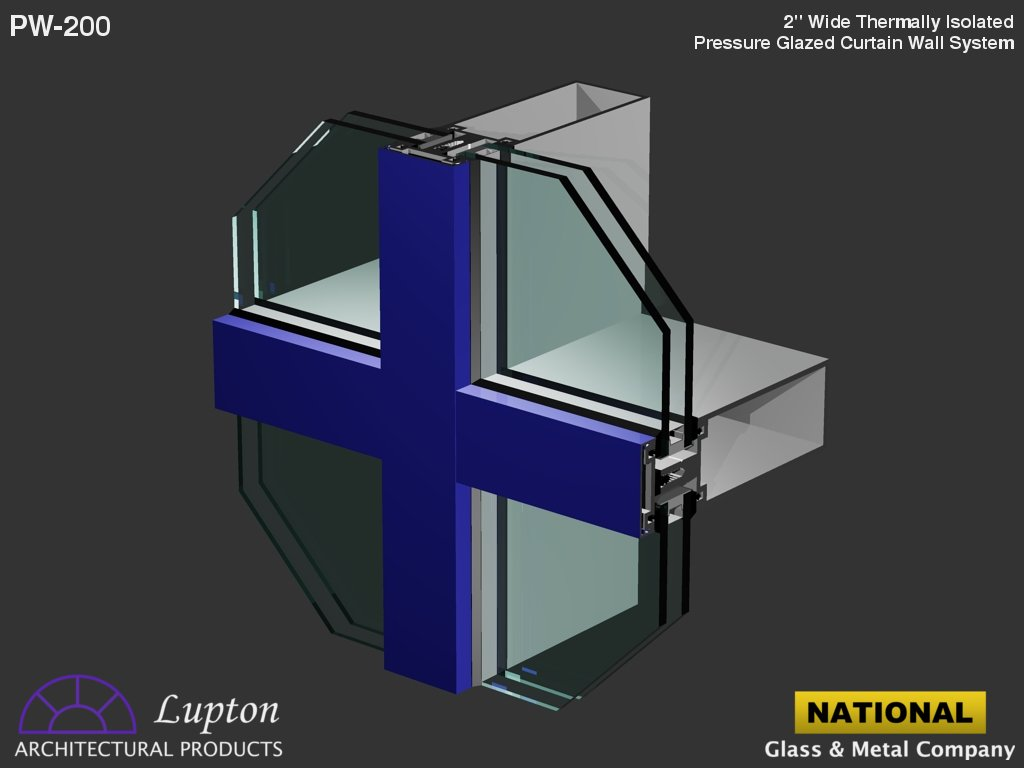 Aluminium curtain wall systems metal technology - Lupton Architectural Products Pw 200
