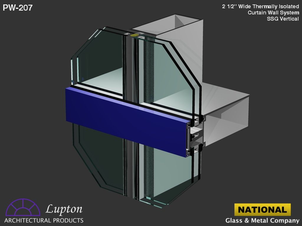 Aluminium curtain wall systems metal technology - Lupton Architectural Products Pw 207